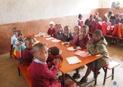 Kids in class at Baraka Shalom Primary