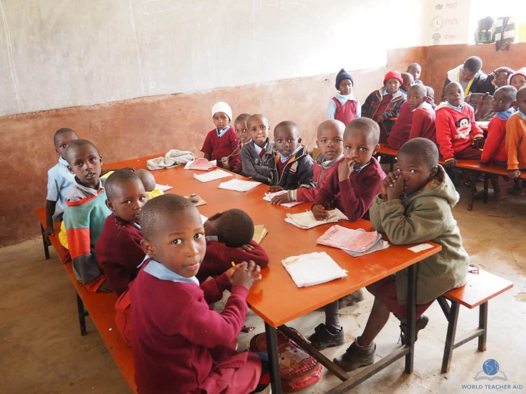 Kids in class at Baraka Shalom Primary