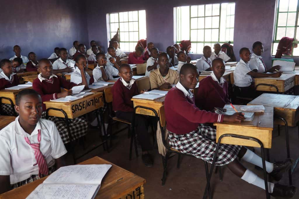 Students in class at Safina Haji Secondary